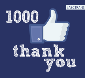 We've reach 1,000 likes on FB!
